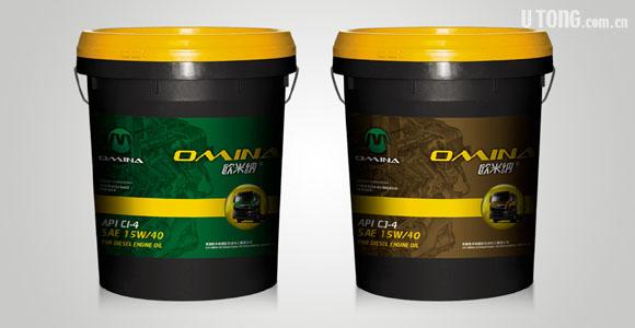 欧米纳润滑油中桶包装设计