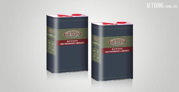 特种润滑油 4l欧式铁桶包装形象    sumax packaging design by utong