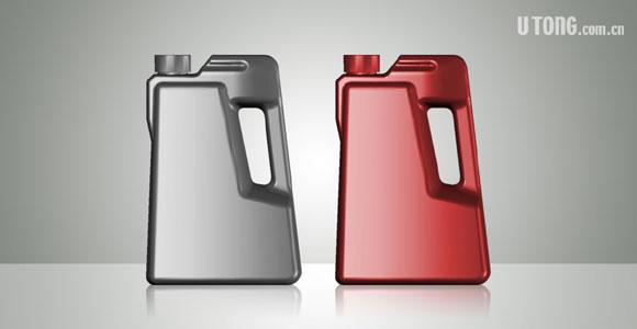 舜能润滑油包装桶立体造型设计